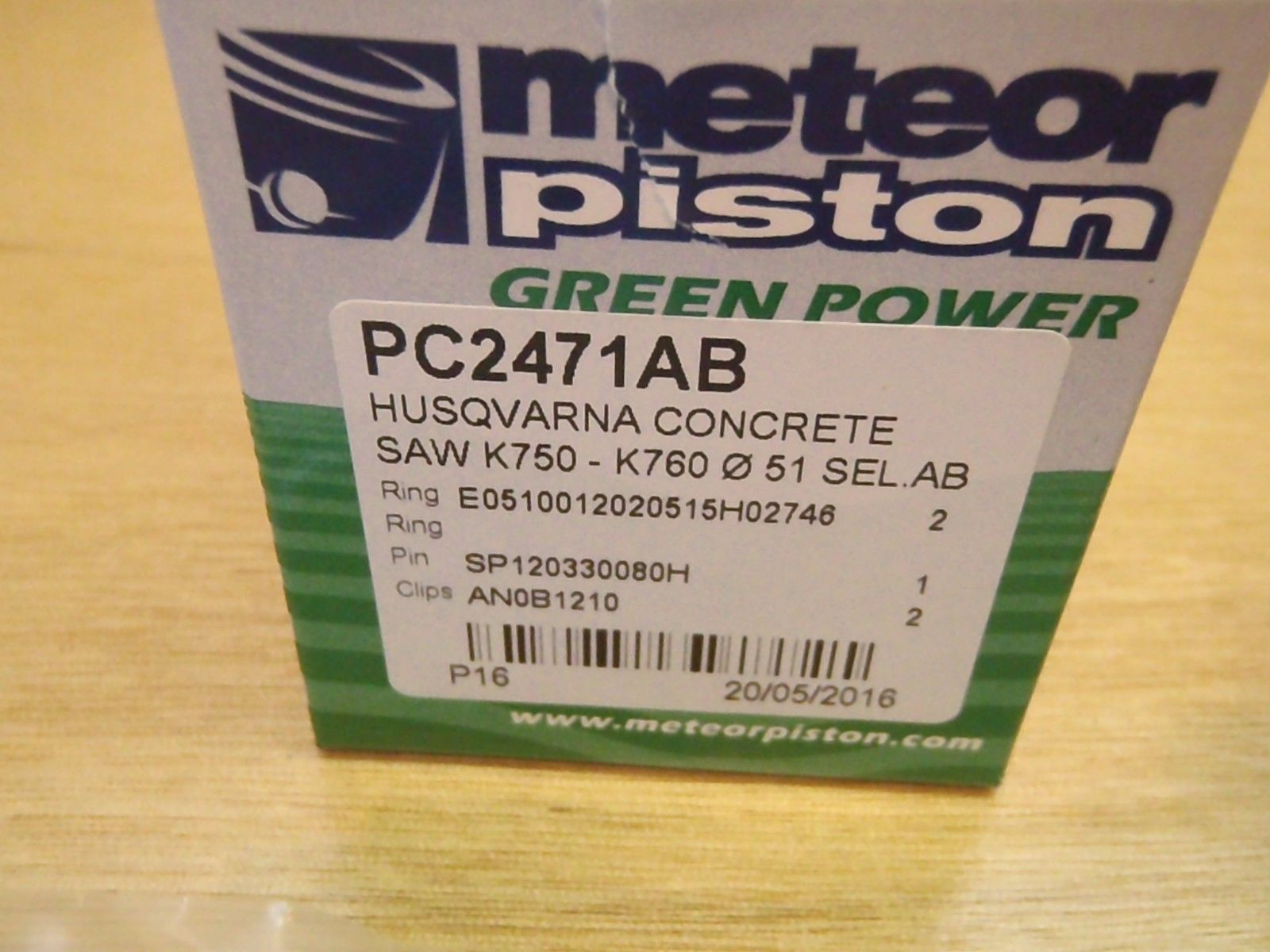 Meteor Piston Kit For Husqvarna Partner K750 K760 51mm Cut