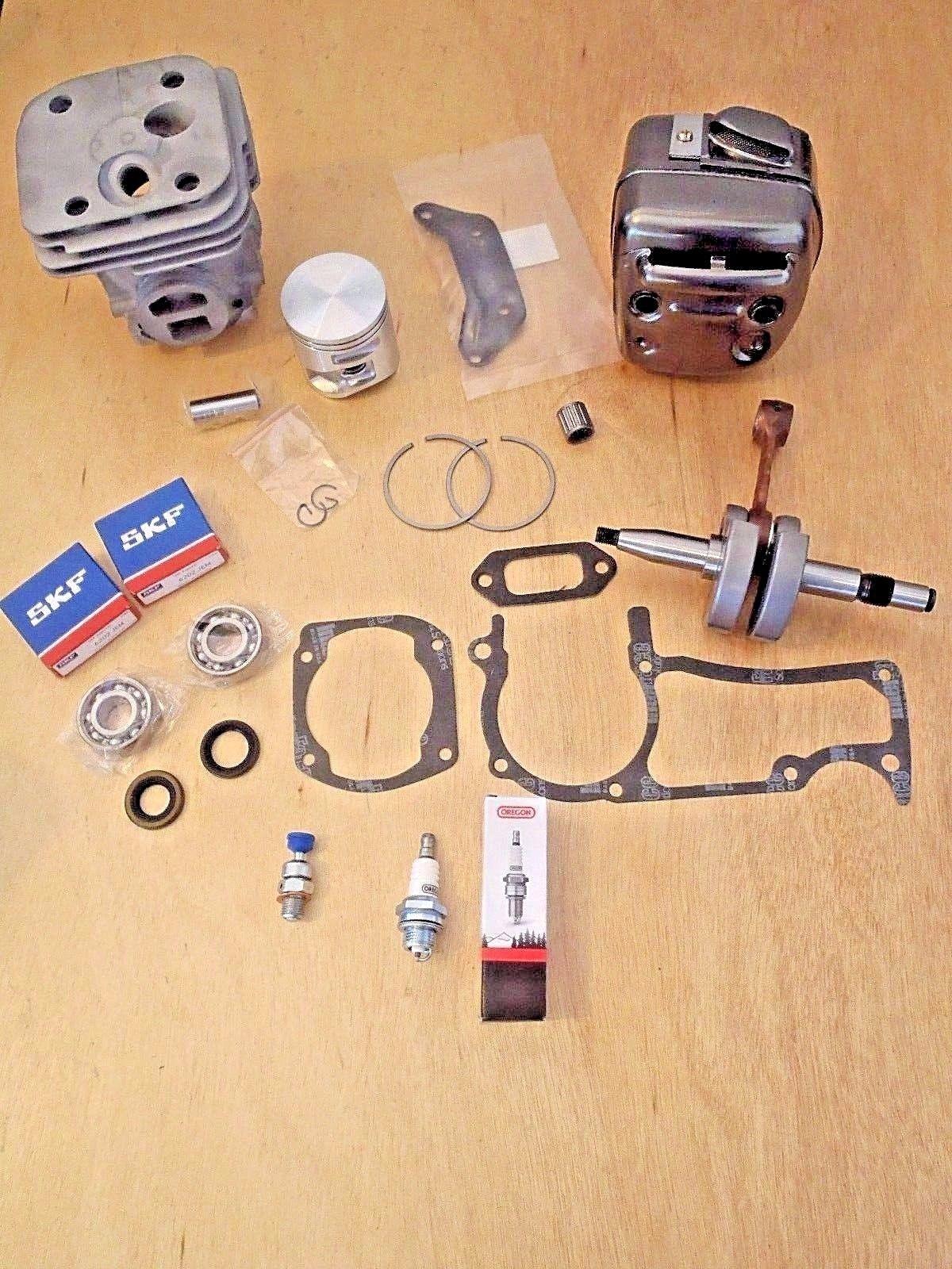 Husqvarna 372xp 365 X-Torq 50mm Cylinder Piston Crankshaft Skf Bearings Seals